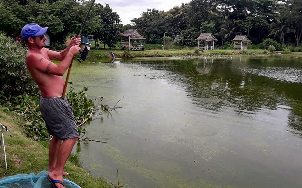 Englishman in Chalong Fishing Park